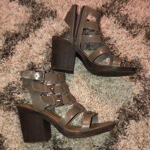Grey Rampage Chunky Sandal Heels